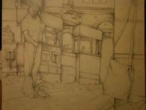 Party, Bleistiftzeichnung, Skizze, Zeichnungen