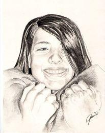 Portrait, Bleistiftzeichnung, Person, Zeichnung