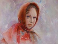 Hübsch, Gemälde, Portrait, Malerei