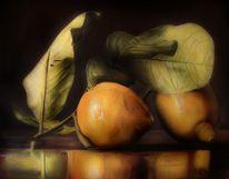 Ölmalerei, Zitrone, Stillleben, Malerei