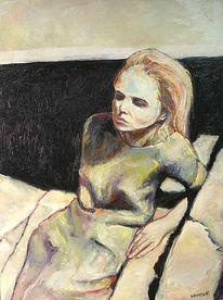 Mädchen, Frau, Malerei, Menschen