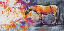 Pastellmalerei, Pferde, Pony, Malerei