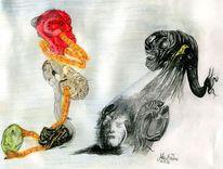 Zeichnungen, Stillleben, Pony