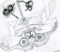 Zeichnungen, Altlasten, Kopf, Schau