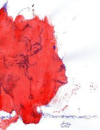 Zeichnungen, Schrei, Bär, Kuh