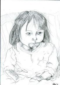 Zeichnungen, Kind, Fernseher