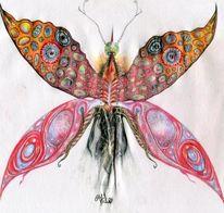 Schmetterling, Absurd, Schmetterfant, Malerei
