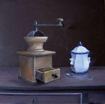 Ruhe, Malerei, Kaffeemühle, Ölmalerei