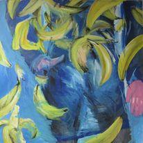 Mann, Hände, Banane, Malerei