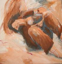 Bewegung, Roter faden, Frau, Malerei