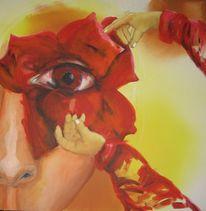 Blumen, Hände, Gesicht, Augen