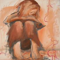 Roter faden, Denken, Frau, Malerei