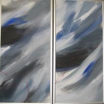 Höhen und tiefen, Lebensweg, Malerei, Abstrakt