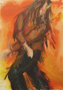 Mann, Tanz, Bewegung, Malerei