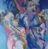 Gesicht, Hand, Malerei