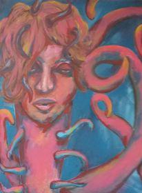 Tintenfisch, Frau, Malerei