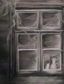 Spinnweben, Vase, Licht, Dunkel
