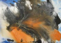 Vulkan, Abstrakt, Malerei,