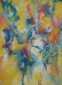 Seepferdchen, Malerei