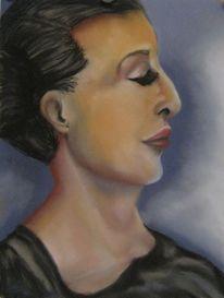 Frau, Nase, Malerei, Menschen
