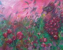 Blumen, Hände, Malerei, Pflanzen