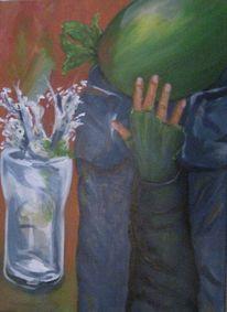 Hand, Glas, Melone, Gefühl