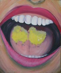 Ostern, Küken, Zähne, Mund