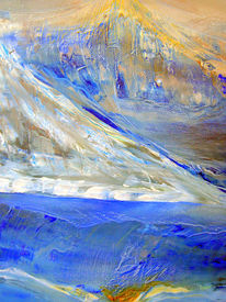 Malerei, Abstrakt, Berge