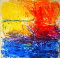 Abstrakt, Malerei, Rot, Frühwerk