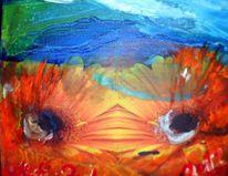 Augen, Blumen, Malerei, Abstrakt