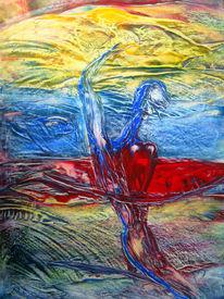Malerei, Abstrakt, Surfbrett