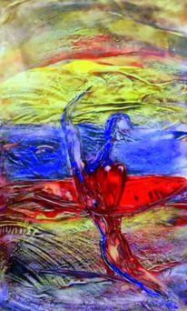 Surfbrett, Meer, Jn bewegung, Malerei