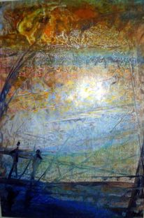 Der spaziergang, Malerei, Abstrakt, Person