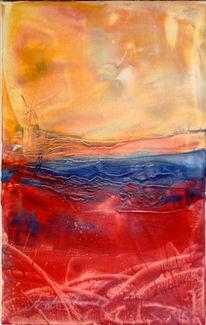 Malerei, Abstrakt, Mühle