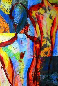 Körper, Malerei, Abstrakt,