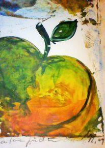 Orange, Garten, Früchte, Grün