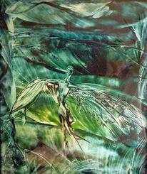 Flügel, Landschaft, Wesen, Malerei