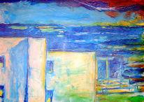 Malerei, Abstrakt, Mallorca, Meer
