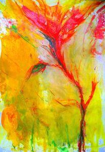 Leichtigkeit, Rot, Blumen, Malerei