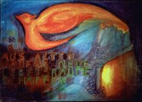 Phoenix, Asche frühwerk, Malerei, Abstrakt
