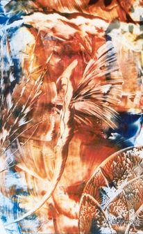 Seepferdchen, Wesen, Malerei, Abstrakt