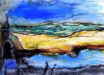 Farben, Natur, Meer sommer, Höhle
