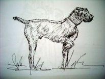 Jagd, Tiere, Illustration, Schwarz weiß