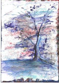Natur, Zeichnung, Blau, Winter