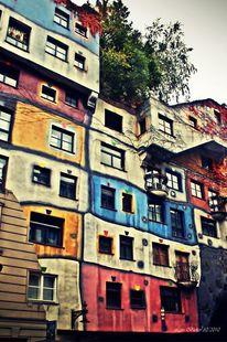 Hundertwasserhaus, Fotografie, Architektur