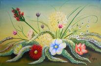 Frühling, Blumen, Malerei, Stillleben