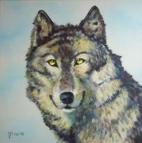 Wolf, Malerei