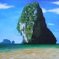 Steilküste, Thailand, Küste, Sand