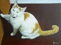 Tür, Katze, Malerei, Tiere
