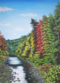 Mulde, Baum, Herbst, Natur